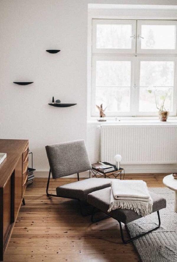 Design moderno e minimalista de poltrona divã. Fonte: Pinterest