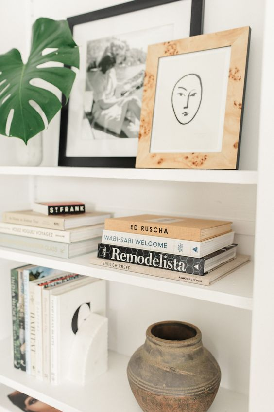 Enfeites para estante decorada com charme e delicadeza