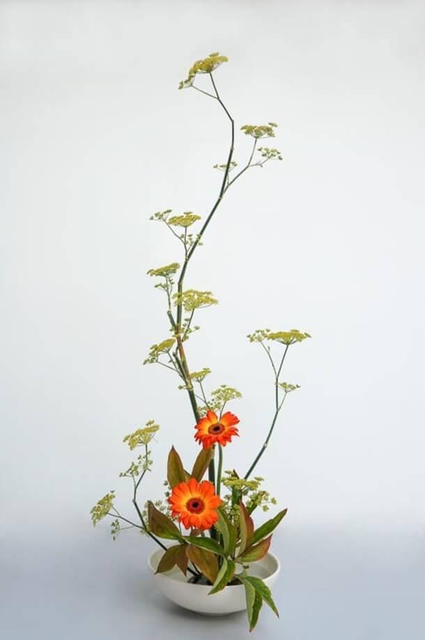 Hana Isho original é uma modalidade mais simples de Ikebana