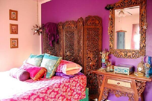 Ideias de decoração indiana para quarto. Fonte: Pinterest