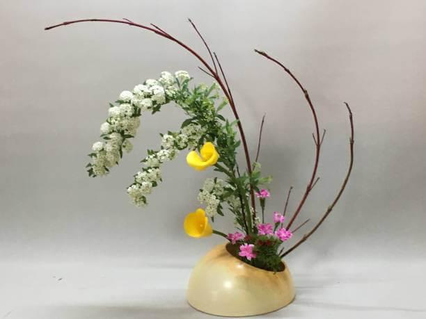 Ikebana delicada para decoração moderna