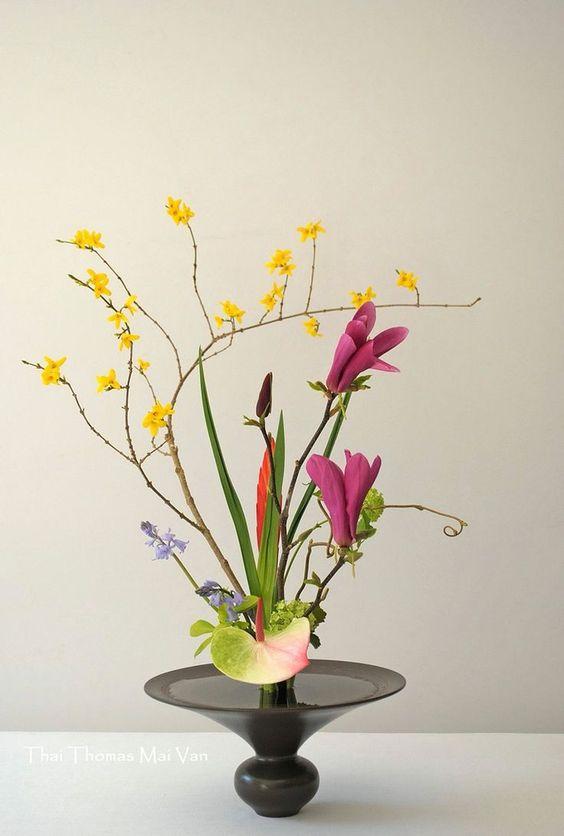 Ikebana para decoração