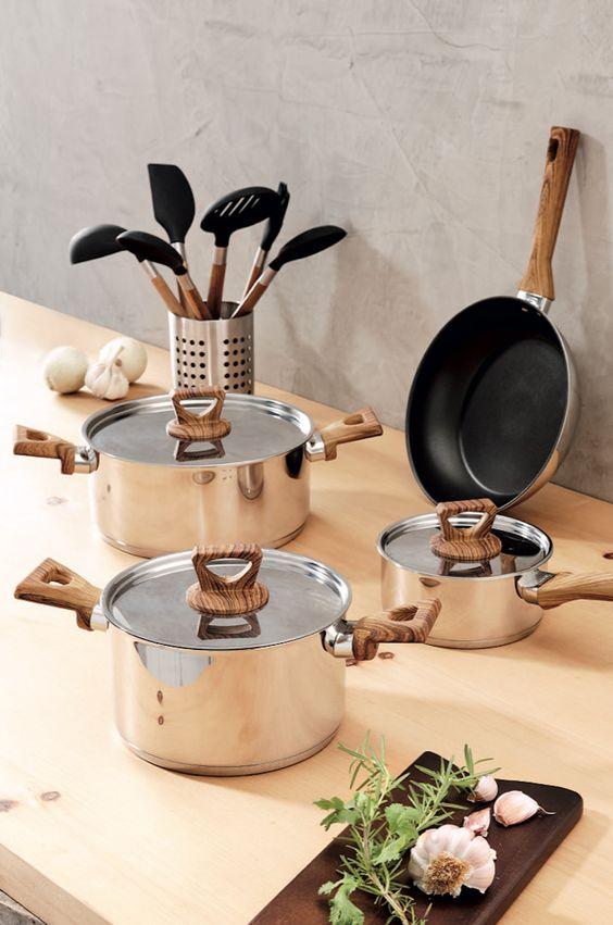 Lista de utensílios para cozinha moderna