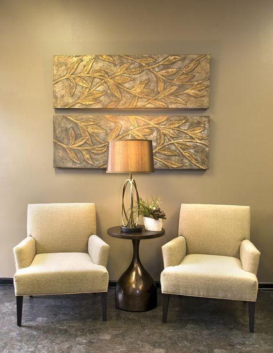 Móveis confortáveis para sala de espera