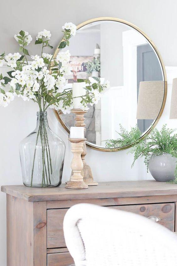 Moldura redonda dourada para decoração de sala luxuosa
