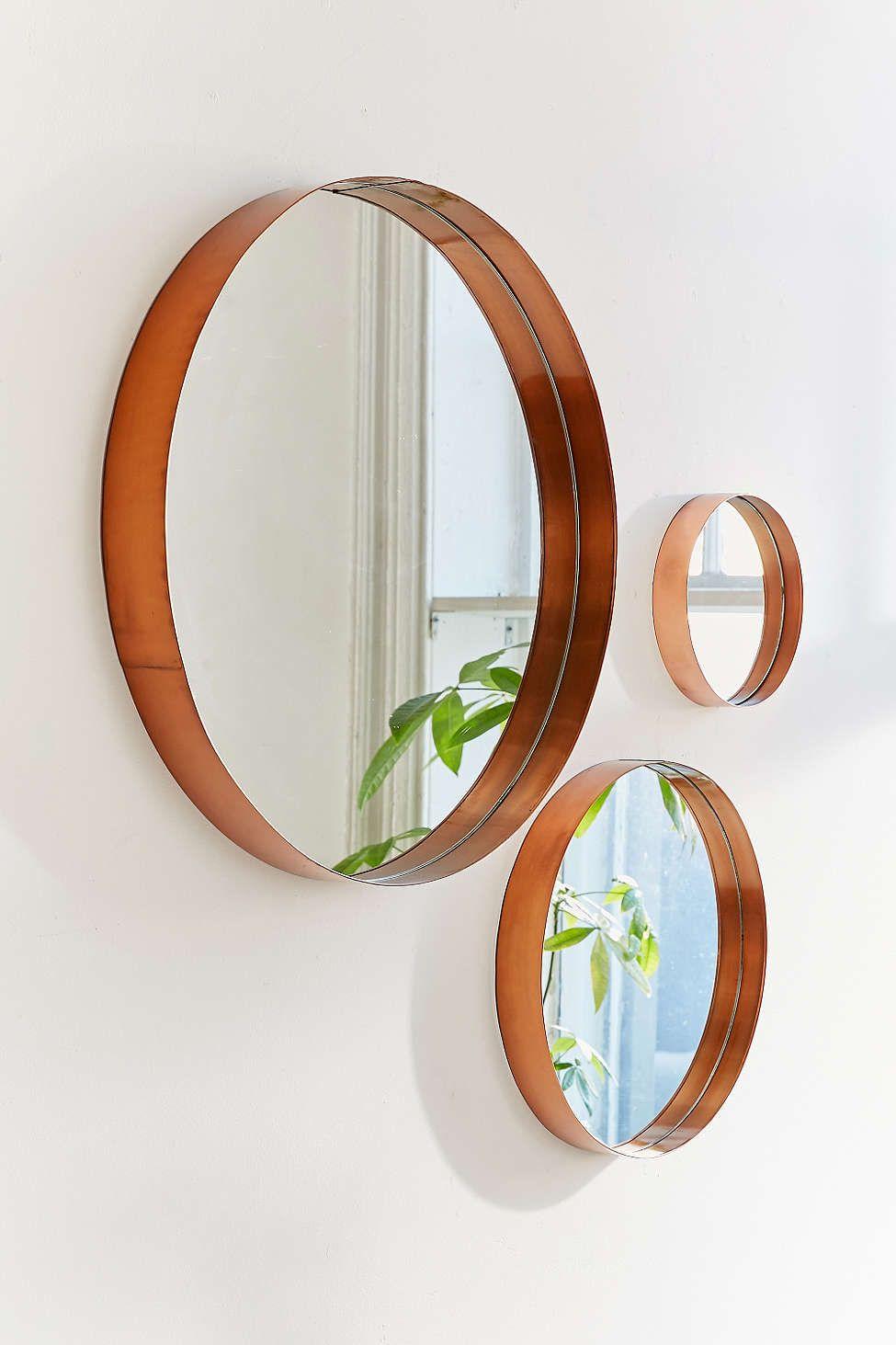 Moldura redonda e moderna para espelhos