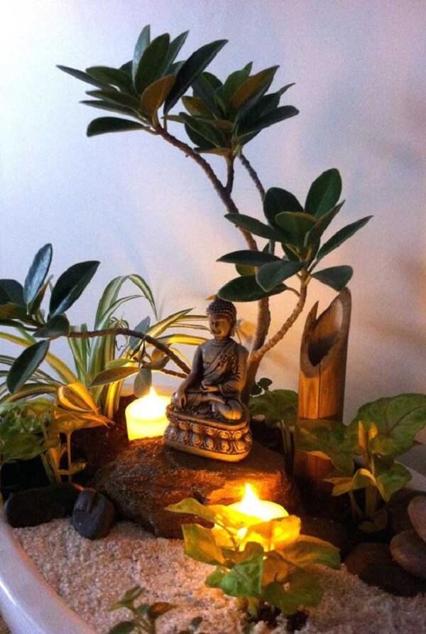No projeto você pode criar um jardim zen com objetos de decoração indiana. Fonte: Pinterest