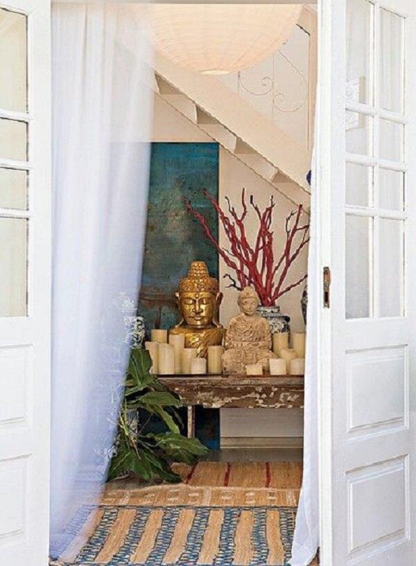 O altar é algo muito tradicional nas casas indianas. Fonte: Casa e Jardim