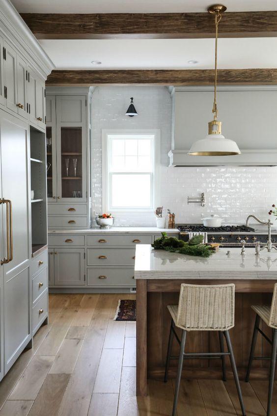Pedra silestone branca para cozinha com ilha gourmet