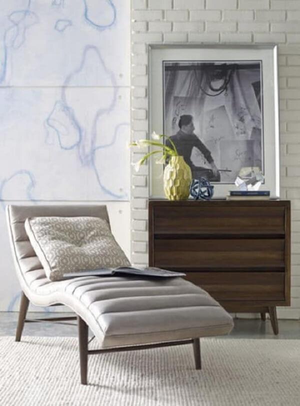 Poltrona divã com design moderno. Fonte: Pinterest