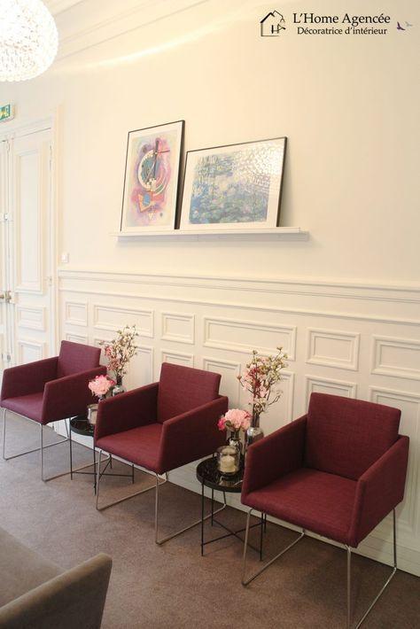Poltronas marsala para sala de espera chique