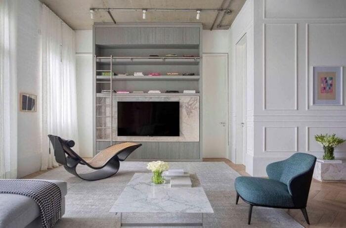 Poltrona divã cheia de estilo e personalidade. Fonte: Nildo José Arquitetura