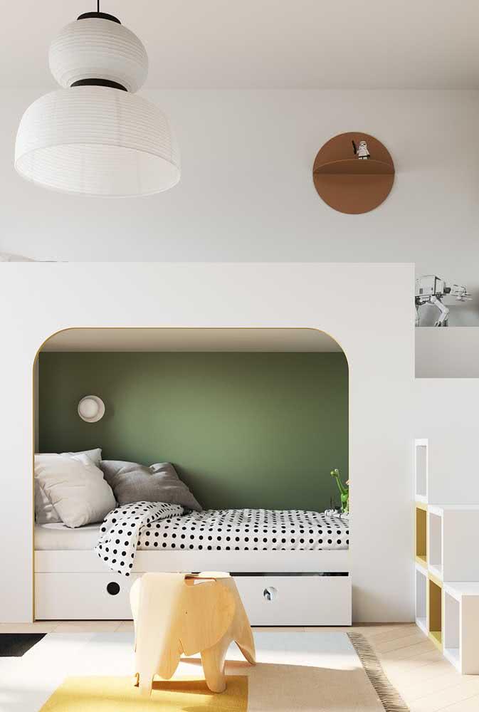 Quarto com beliche de madeira moderno