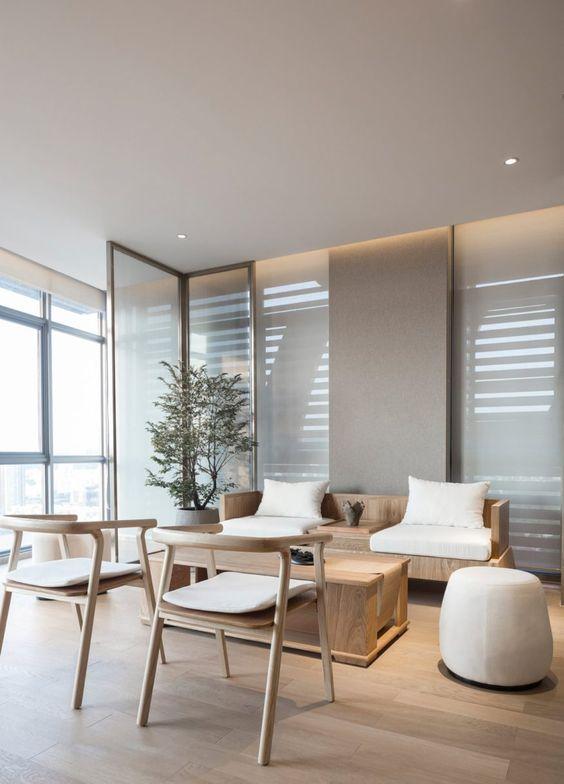 Sala de espera moderna para escritório