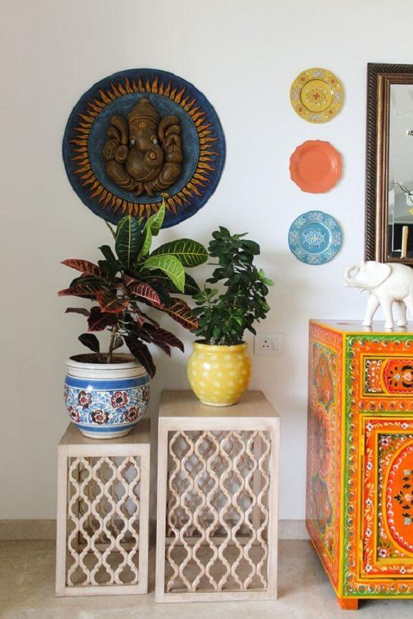 Se inspire nestas ideias de decoração indiana. Fonte: Pinterest