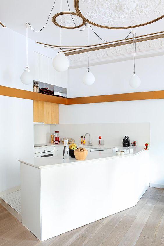 Silestone branco para cozinha moderna