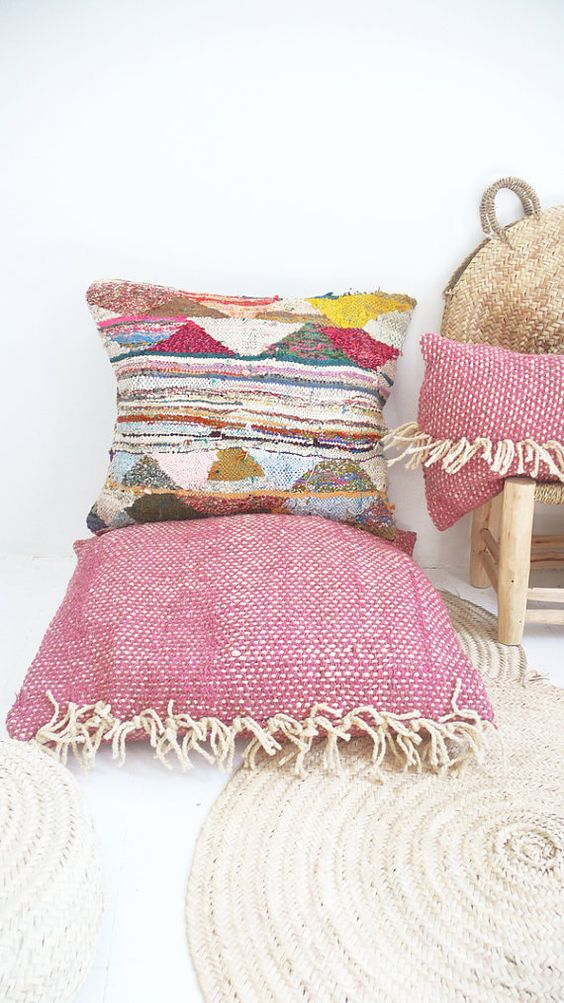 Tecido para almofada colorida para decorar a casa