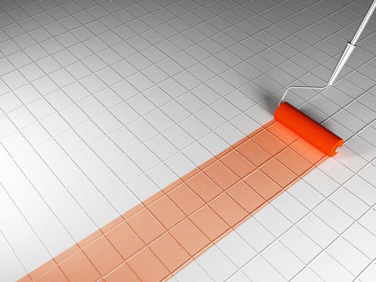 Tinta para piso laranja