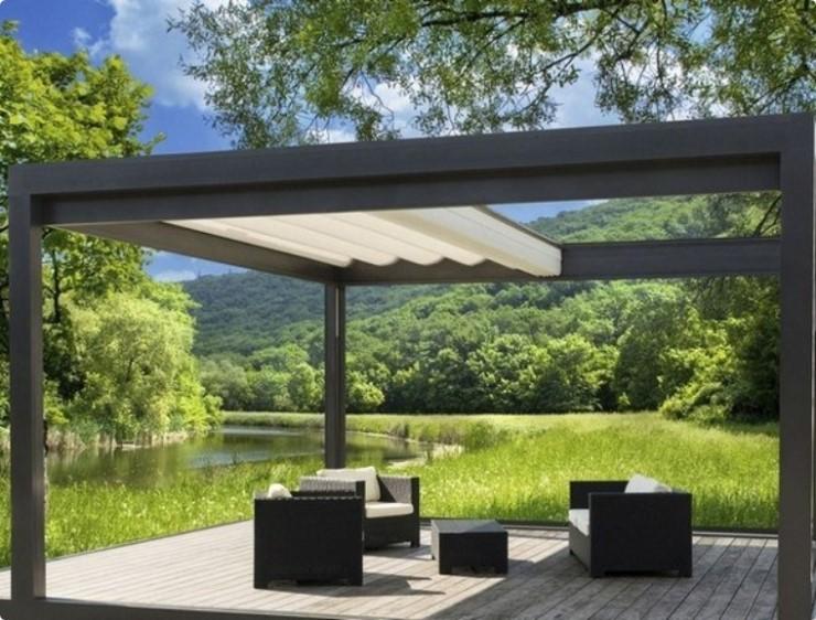 Toldo deslizante para varanda moderna