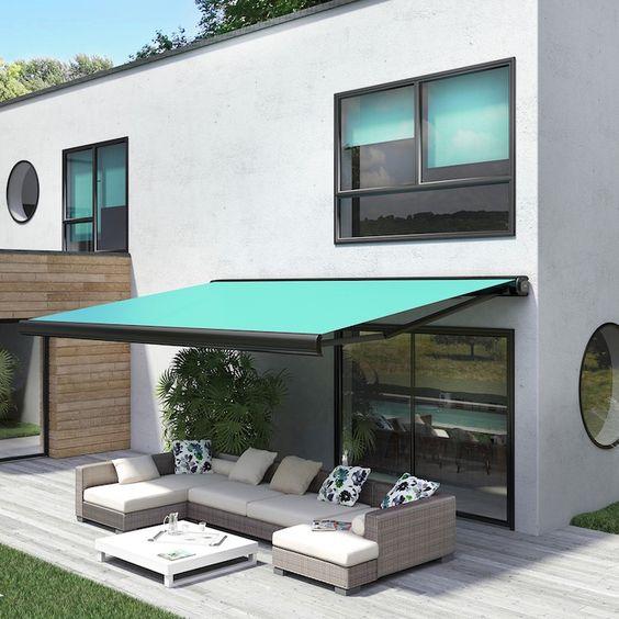 Toldo para varanda preto e verde