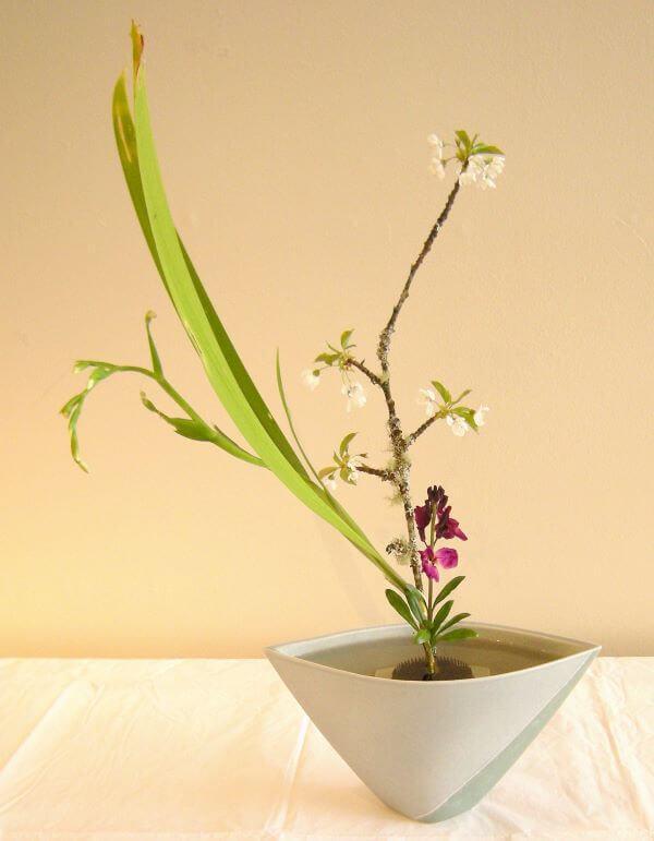 Vaso ikebana para decoração