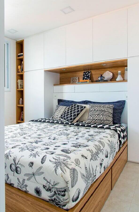armários planejados para decoração de quarto de casal Foto Pinterest