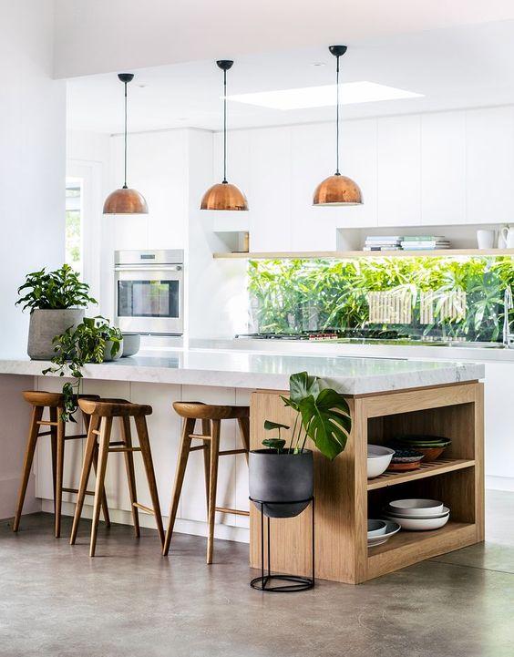 Pedra para bancada de cozinha moderna