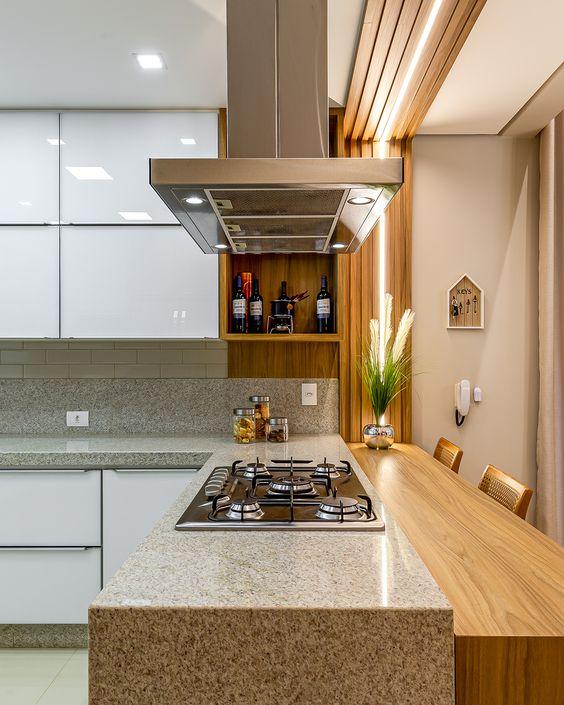 O granito é a pedra para bancada mais utilizada na cozinha moderna