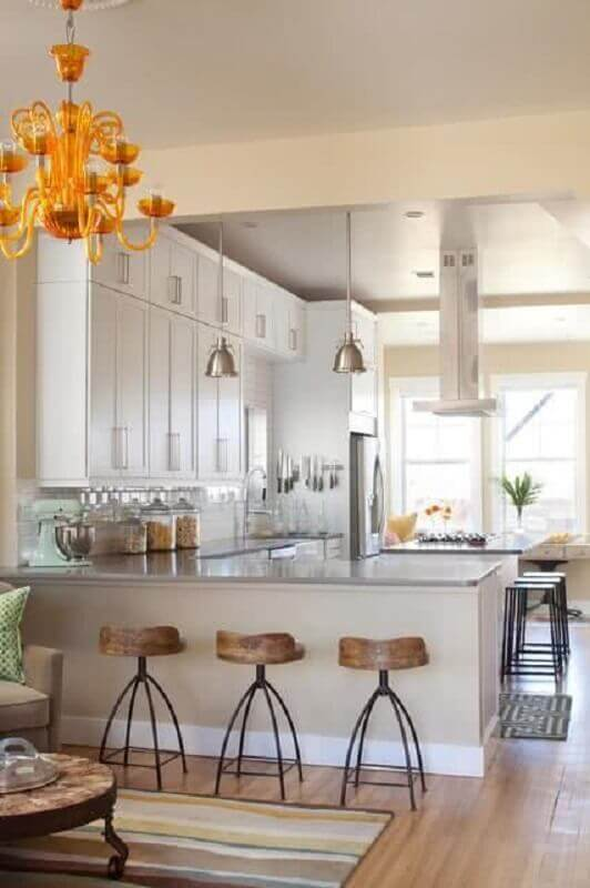 Decoração clássica para cozinha estilo americana Foto Homedit
