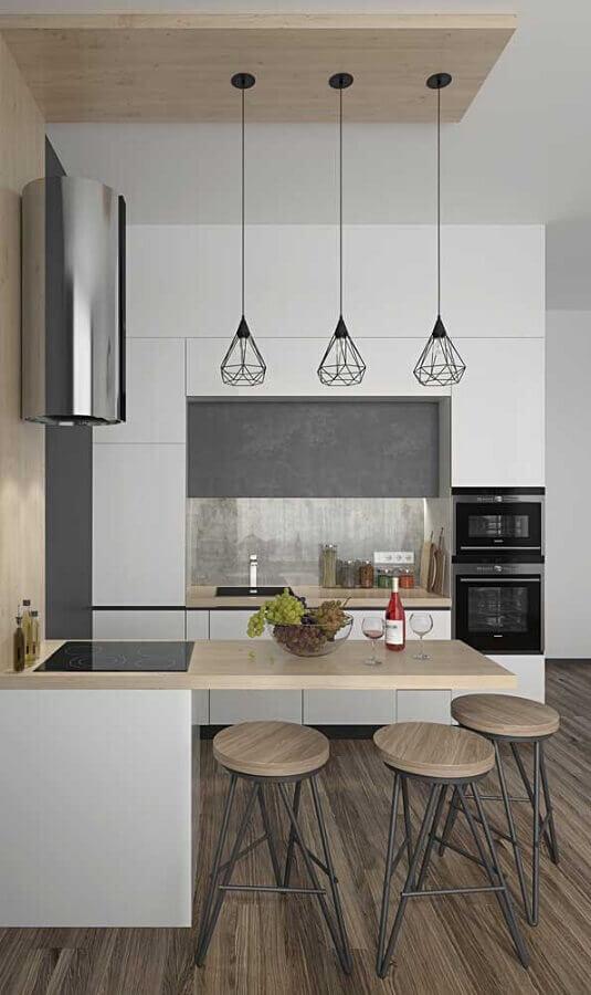 Decoração moderna para cozinha planejada estilo americana pequena Foto Pinterest