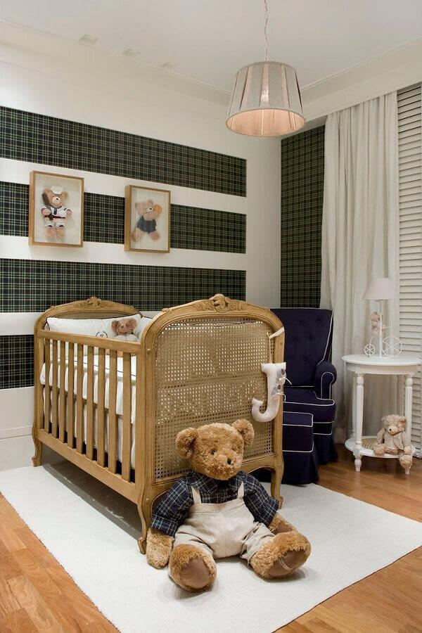 dicas de decoração para quarto de bebê com ursinhos de pelúcia Foto Pinterest