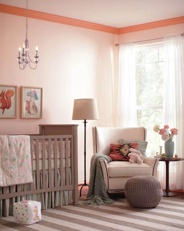 dicas de decoração para quarto de bebê feminino em tons de rosa Foto Home Fashion Trend