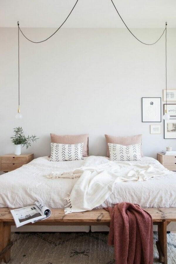 dicas para decorar quarto de casal com estilo minimalista Foto Mushka Bazar