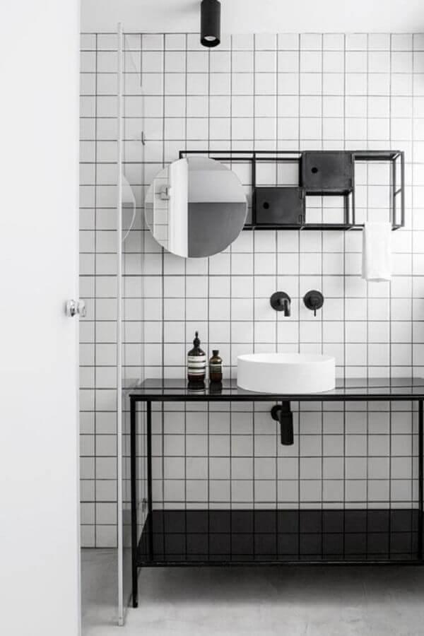 ideias de decoração para banheiro minimalista Foto Elle Decor