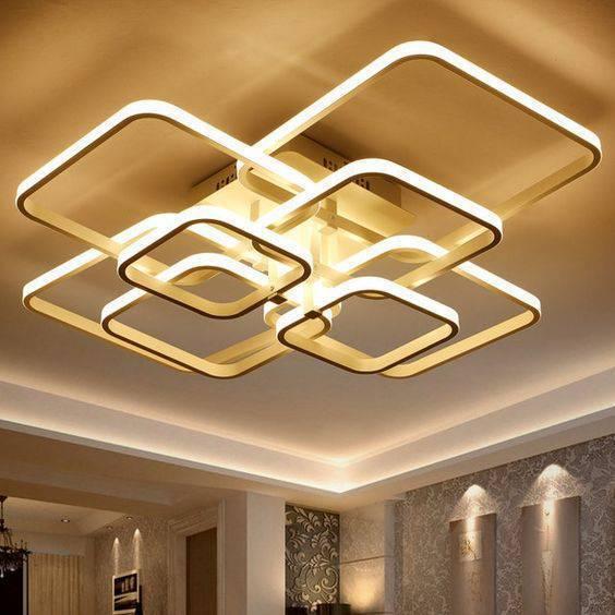 Lustre quadrado para iluminar a sala de estar