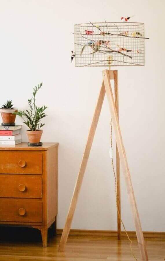 modelo simples de abajur de pé de madeira Foto Etsy