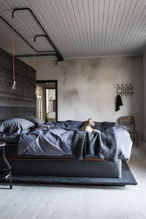 parede de cimento queimado para decoração de quarto industrial Foto Neu Dekoration Stile