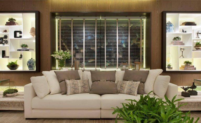 persiana preta para sala de estar