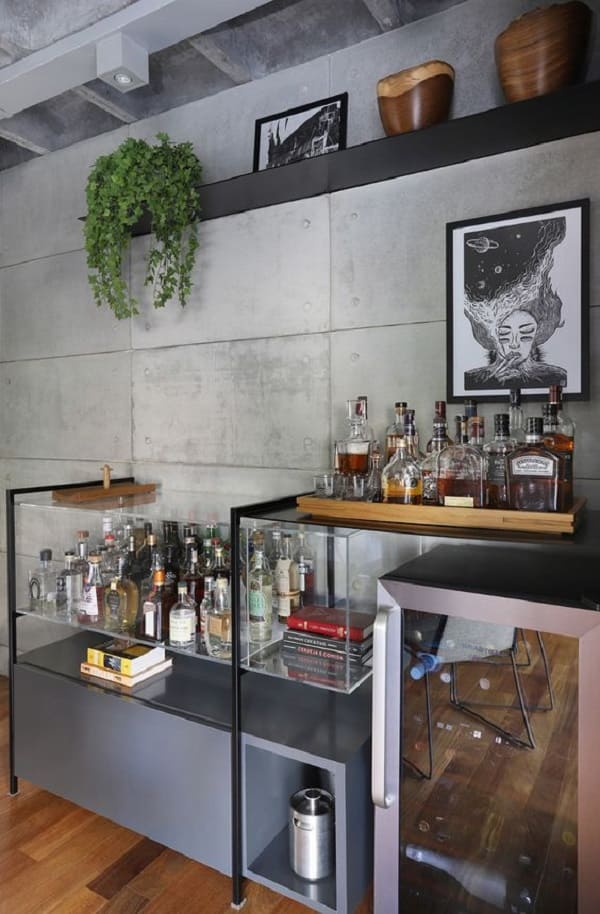 Bandeja bar de madeira. Fonte: Casa de Valentina