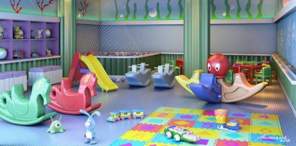Brinquedoteca com rodameio na parede
