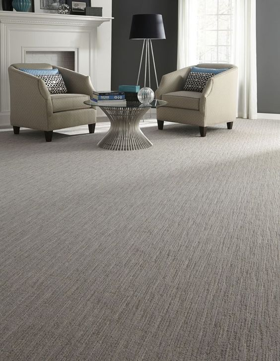 Carpete para sala cinza