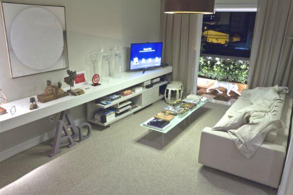 Carpete para sala cinza e moderna