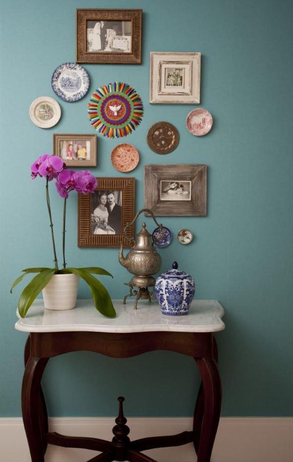 Casa decorada com móveis vintage de madeira
