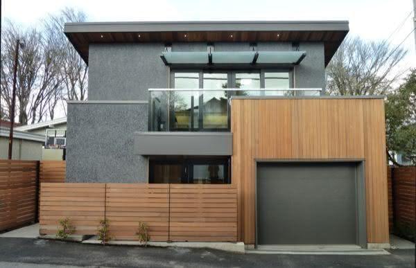 Casa moderna com garagem na entrada