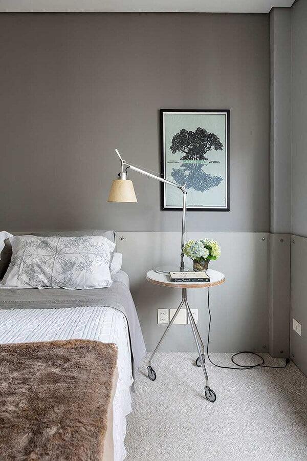 Como decorar um quarto cinza minimalista Foto Casa de Valentina