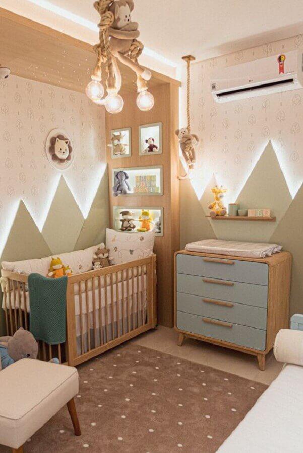 Como decorar um quarto de bebê moderno em tons pastéis Foto Grão de Gente