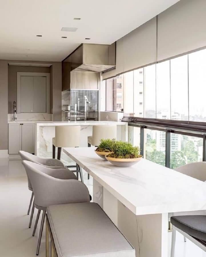 Cores claras para decoração de apartamento com varanda gourmet Foto Dicas de Mulher