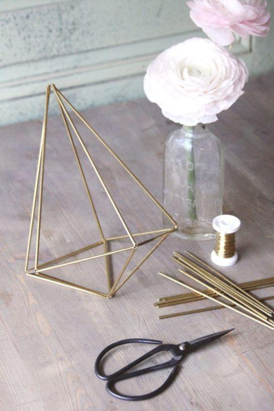 DIY de Vaso suspenso para air plant