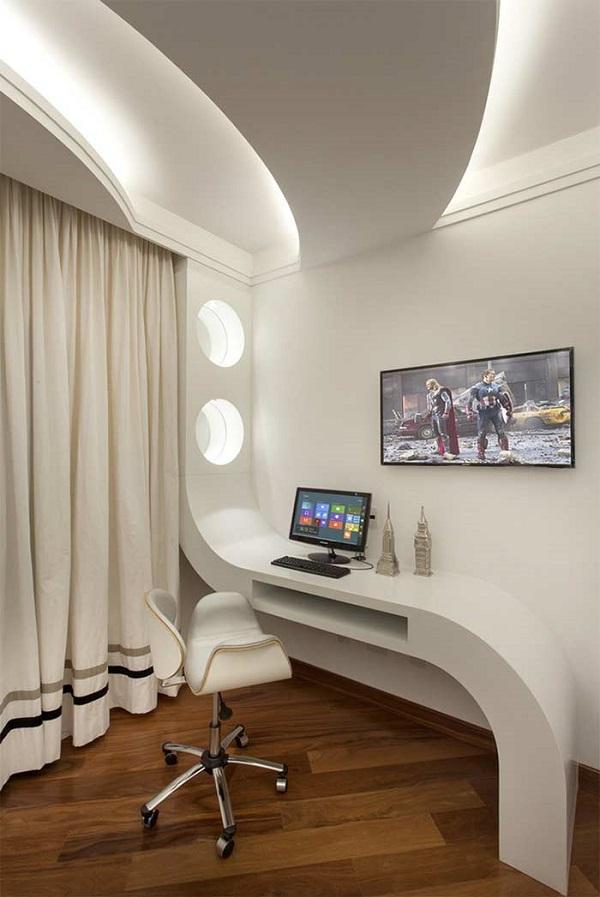 Decoração de gesso no home office