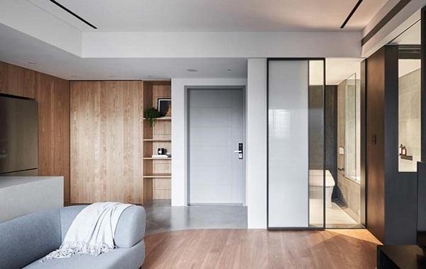 Decoração de gesso para teto de sala de estar moderna